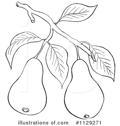 Royalty-Free (RF) Pear Clipart Illustration by Picsburg - Stock Sample #1129271
