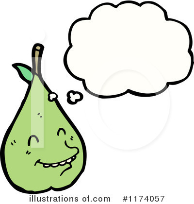 Royalty-Free (RF) Pear Clipart Illustration by lineartestpilot - Stock Sample #1174057