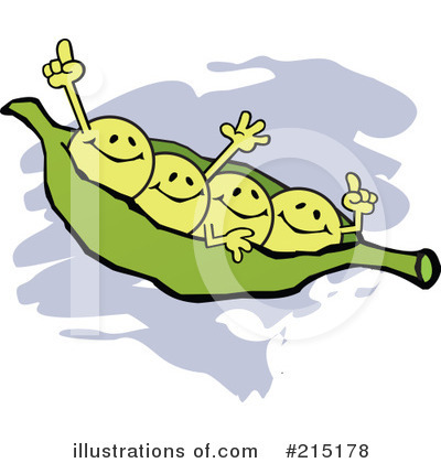 Pea Pod Clipart #215178 by Johnny Sajem