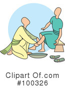Royalty-Free (RF) Pedicure Clipart Illustration #100326