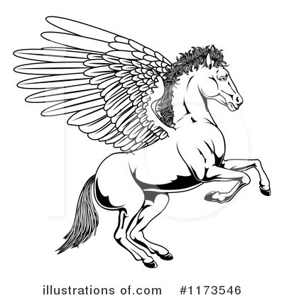 Royalty-Free (RF) Pegasus Clipart Illustration by AtStockIllustration - Stock Sample #1173546