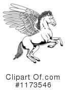 Royalty-Free (RF) Pegasus Clipart Illustration #1173546