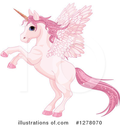 Royalty-Free (RF) Pegasus Clipart Illustration by Pushkin - Stock Sample #1278070