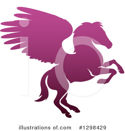 Pegasus Clipart #1298429 by AtStockIllustration