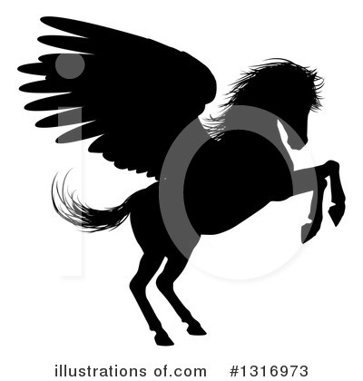 Pegasus Clipart #1316973 by AtStockIllustration
