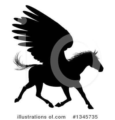Pegasus Clipart #1345735 by AtStockIllustration