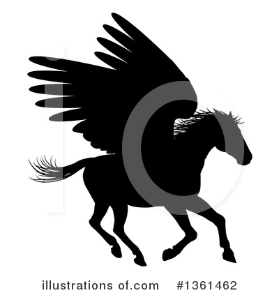 Pegasus Clipart #1361462 by AtStockIllustration