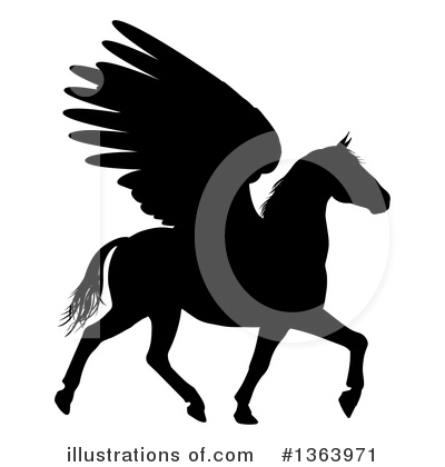 Pegasus Clipart #1363971 by AtStockIllustration