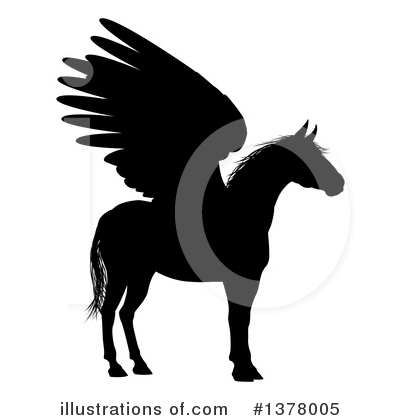 Pegasus Clipart #1378005 by AtStockIllustration