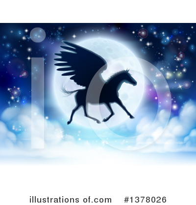 Pegasus Clipart #1378026 by AtStockIllustration