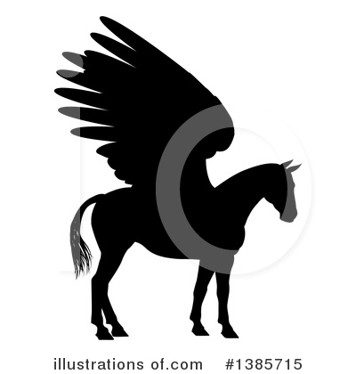 Pegasus Clipart #1385715 by AtStockIllustration