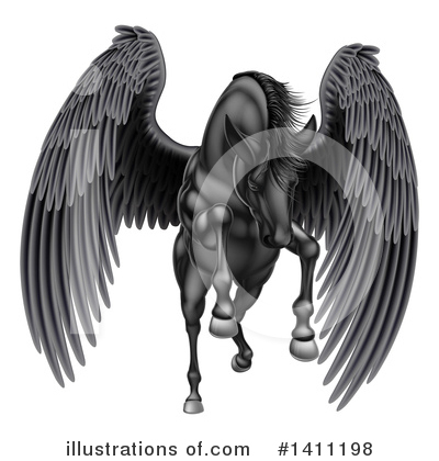Pegasus Clipart #1411198 by AtStockIllustration