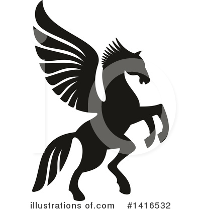 Pegasus Clipart #1416532 by Vector Tradition SM