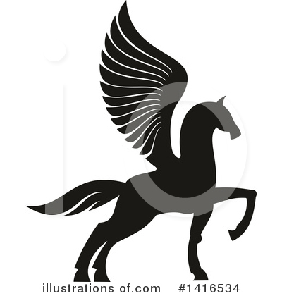 Pegasus Clipart #1416534 by Vector Tradition SM