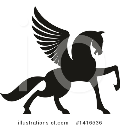 Pegasus Clipart #1416536 by Vector Tradition SM