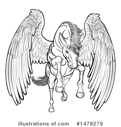 Pegasus Clipart #1478279 by AtStockIllustration