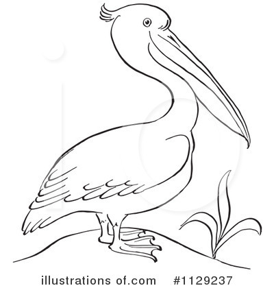 Royalty-Free (RF) Pelican Clipart Illustration by Picsburg - Stock Sample #1129237