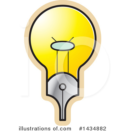 Light Bulb Clipart #1434882 by Lal Perera