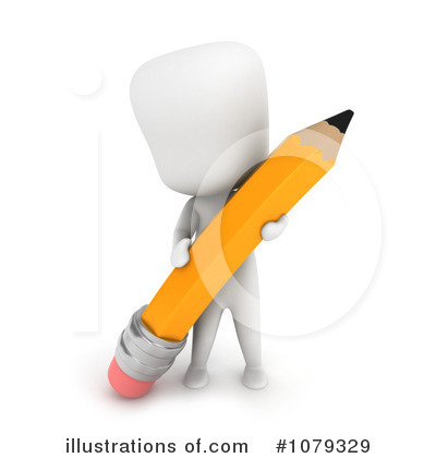 Royalty-Free (RF) Pencil Clipart Illustration by BNP Design Studio - Stock Sample #1079329