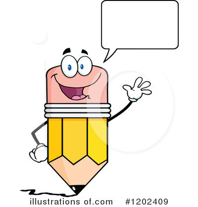 Pencil Character Clipart #1202409 by Hit Toon