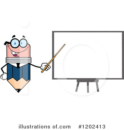 Pencil Character Clipart #1202413 by Hit Toon