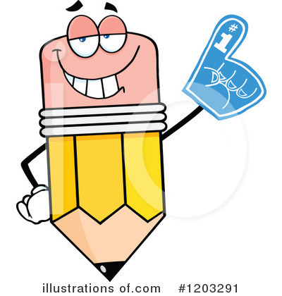 Pencil Character Clipart #1203291 by Hit Toon