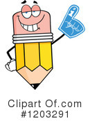 Royalty-Free (RF) Pencil Clipart Illustration #1203291