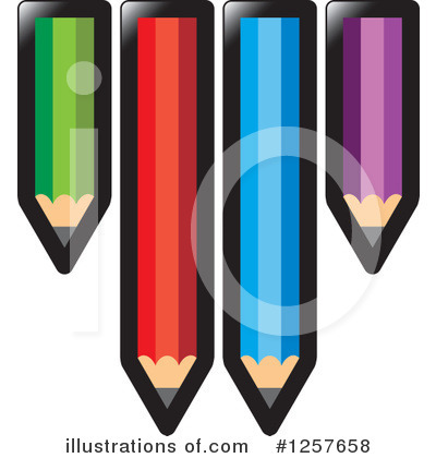 Pencil Clipart #1257658 by Lal Perera