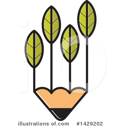 Pencil Clipart #1429202 by Lal Perera