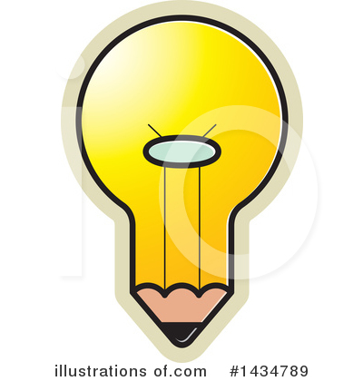 Light Bulb Clipart #1434789 by Lal Perera