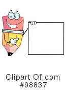 Royalty-Free (RF) Pencil Clipart Illustration #98837