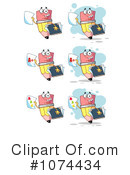 Royalty-Free (RF) Pencils Clipart Illustration #1074434