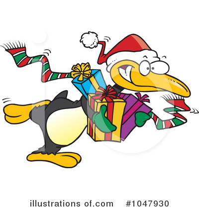 Penguin Clipart #1047930 by toonaday