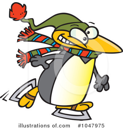 Penguin Clipart #1047975 by toonaday