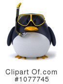 Royalty-Free (RF) Penguin Clipart Illustration #1077745