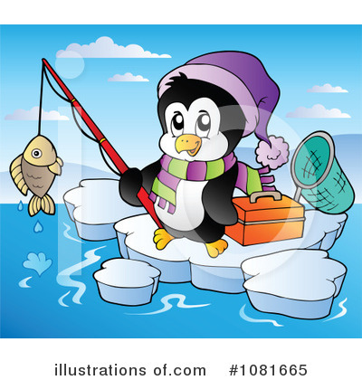 Royalty-Free (RF) Penguin Clipart Illustration by visekart - Stock Sample #1081665