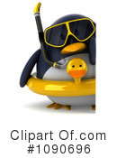 Royalty-Free (RF) Penguin Clipart Illustration #1090696