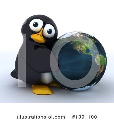 Penguin Clipart #1091100 by KJ Pargeter