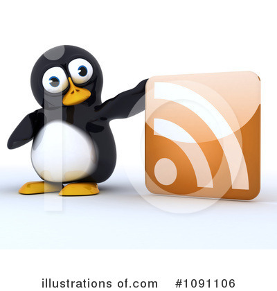 Royalty-Free (RF) Penguin Clipart Illustration by KJ Pargeter - Stock Sample #1091106