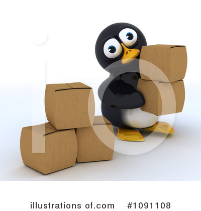 Royalty-Free (RF) Penguin Clipart Illustration by KJ Pargeter - Stock Sample #1091108