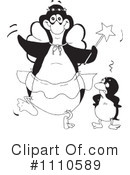 Penguin Clipart #1110589 by Dennis Holmes Designs