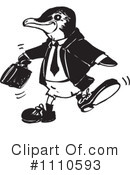 Penguin Clipart #1110593 by Dennis Holmes Designs