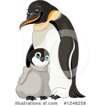 Penguin Clipart #1248258 by Pushkin