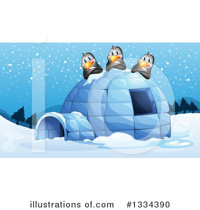 Igloo Clipart #1334390 by Graphics RF