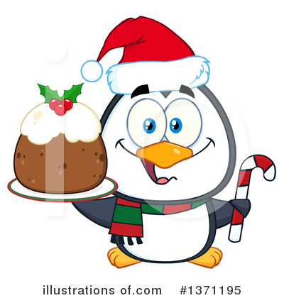 Christmas Pudding Clipart #1371195 by Hit Toon