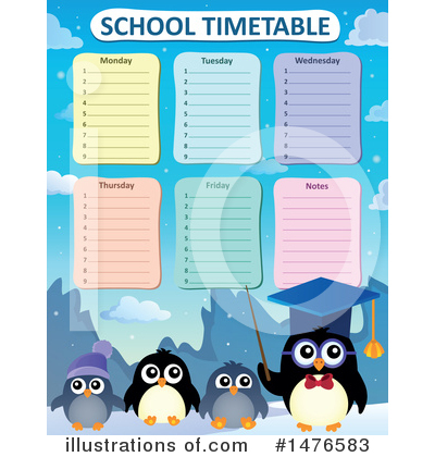 School Timetable Clipart #1476583 by visekart
