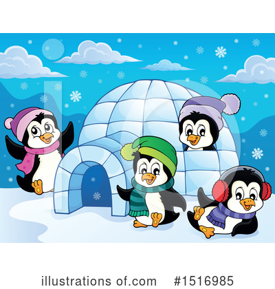 Penguin Clipart #1516985 by visekart