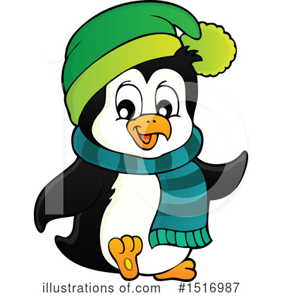 Penguin Clipart #1516987 by visekart