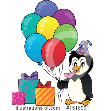 Penguin Clipart #1516991 by visekart
