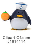 Penguin Clipart #1614114 by Julos